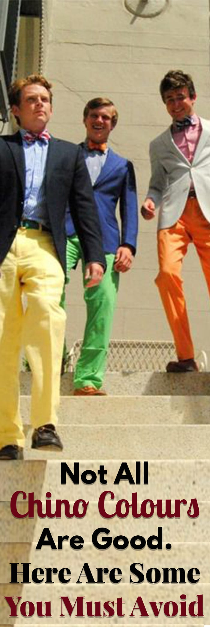 Here Are Some Chino Colours You Must Avoid