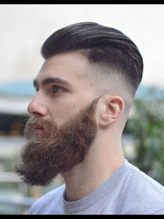 best beard with faded undercut