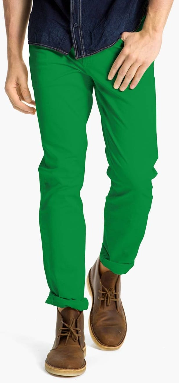 green chino colour to avoid
