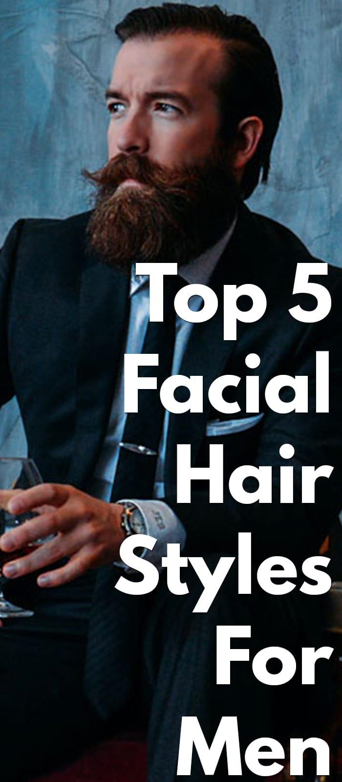 5 Amazing Facial Hair Styles - Moustache, Stubble Beard, Long Beard, Etc