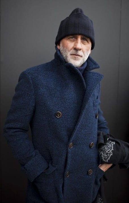 Authentic Pea Coat, old man