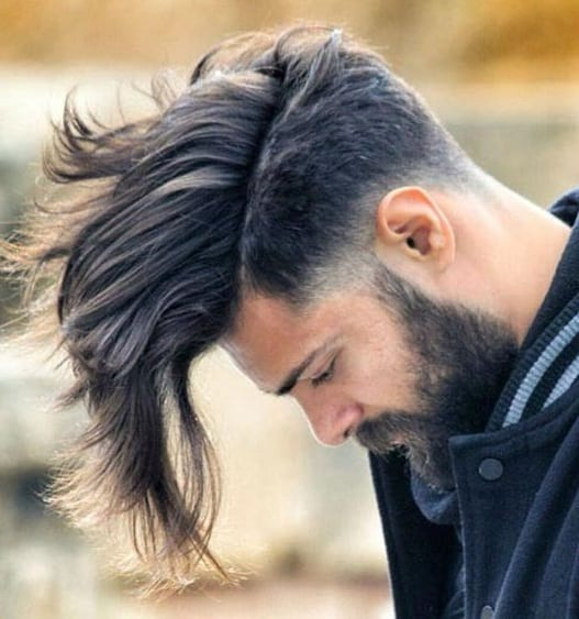 Messy fade long hair