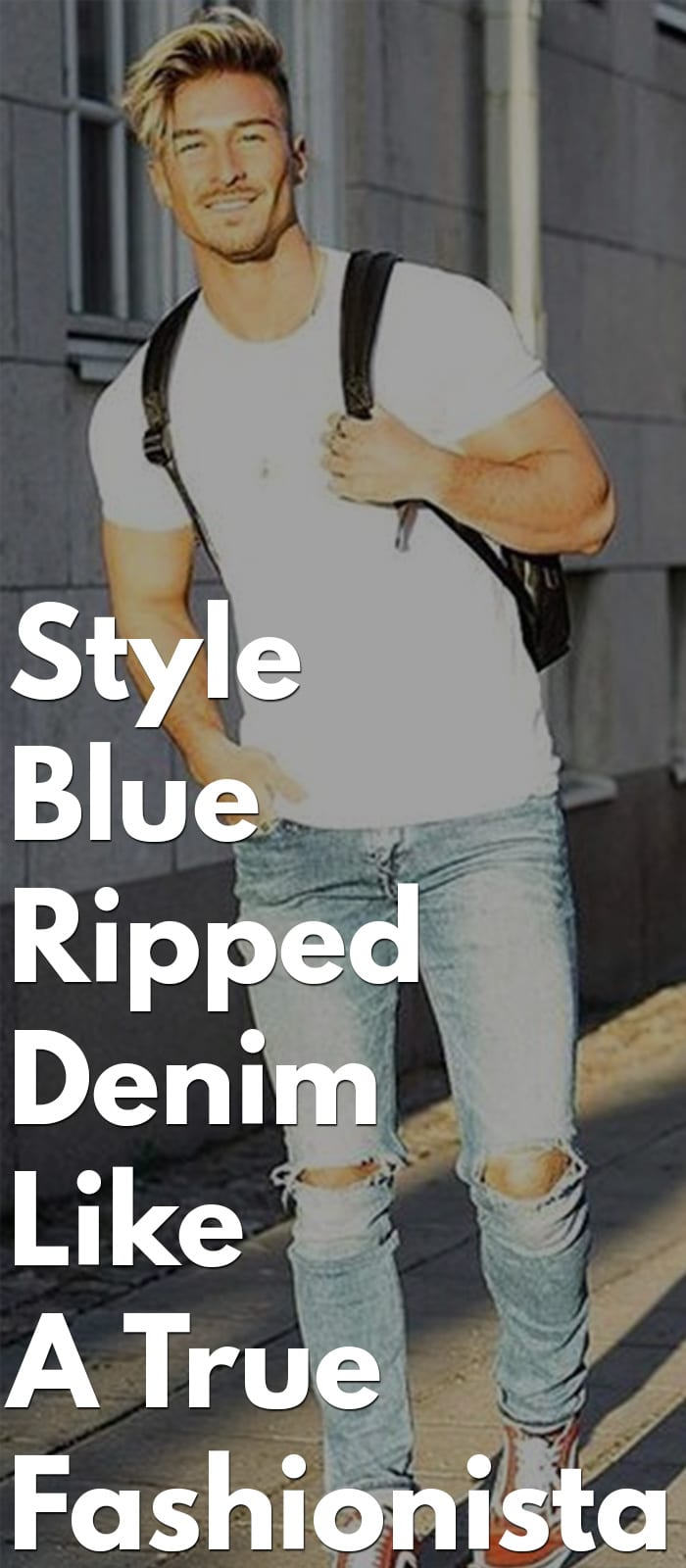 Style Blue Ripped Denims