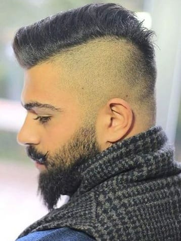 beard side part