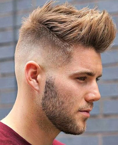 fade front spikes hairstyle