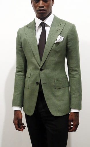 green outfit-dark skin tone men style guide