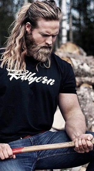 laid back ponytail and beard styles