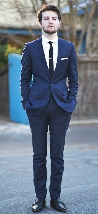Navy Blue Suit Black Tie Black Shoes ⋆ Best Fashion Blog