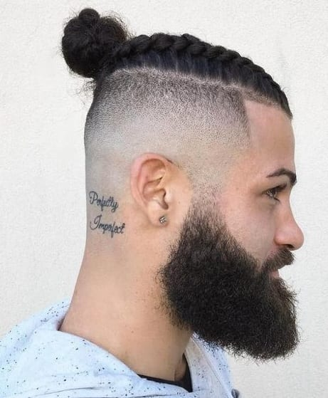 side shaved top knot