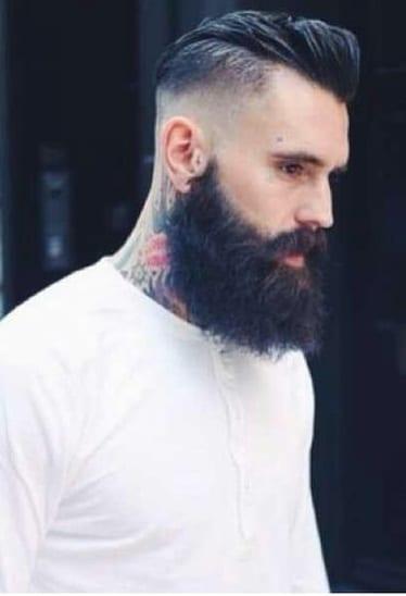 skin fade mohawk beard