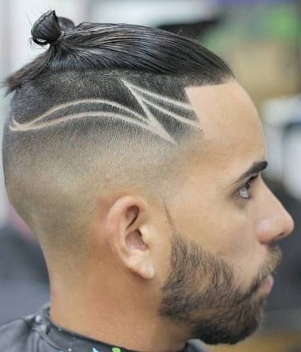 undercut with designs