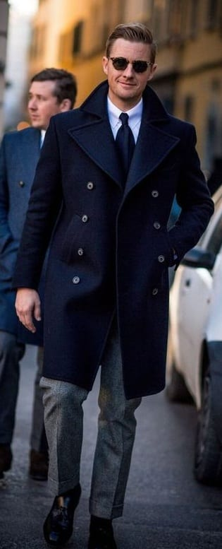 vintage navy pea coat