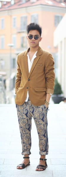 Printed Pants for Men- chinos