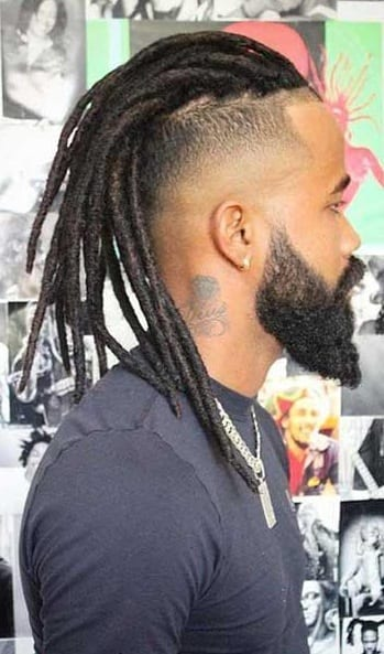 long hair dreadlock mohawk