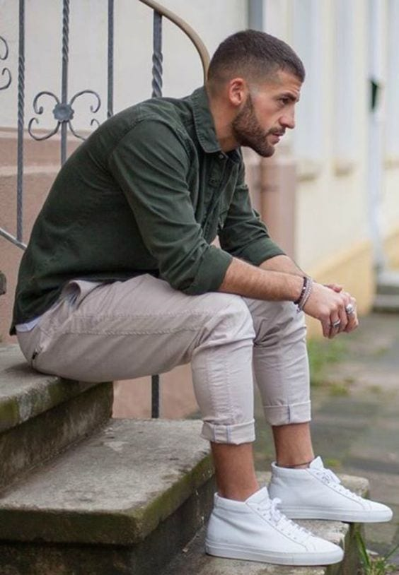 outfit colour combination- dark green