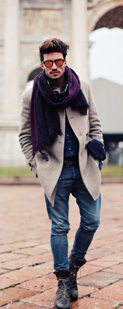 outfit layering - scarf