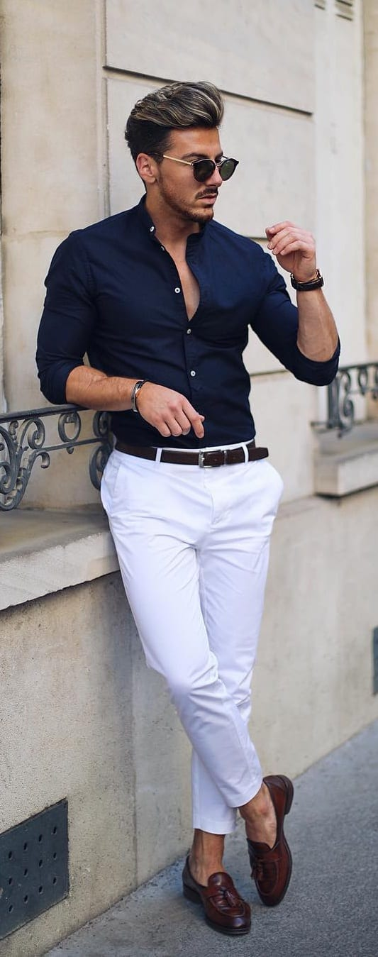 Men's Preppy Style- shirt