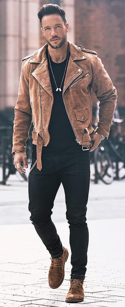 weekend outfit ideas- leather jacket