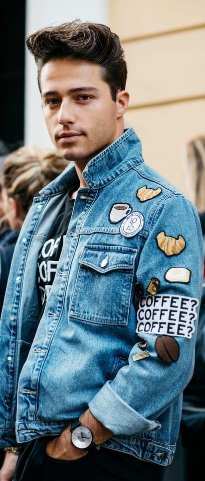 Denim Jacket Patch Outfit For Men