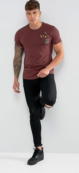 T-shirt Patch Outfit For Men
