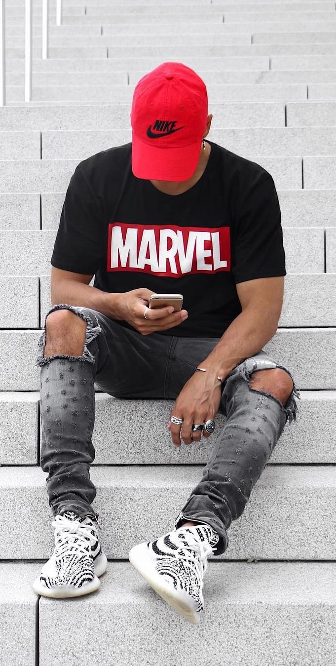 simple yeezy outfits for men