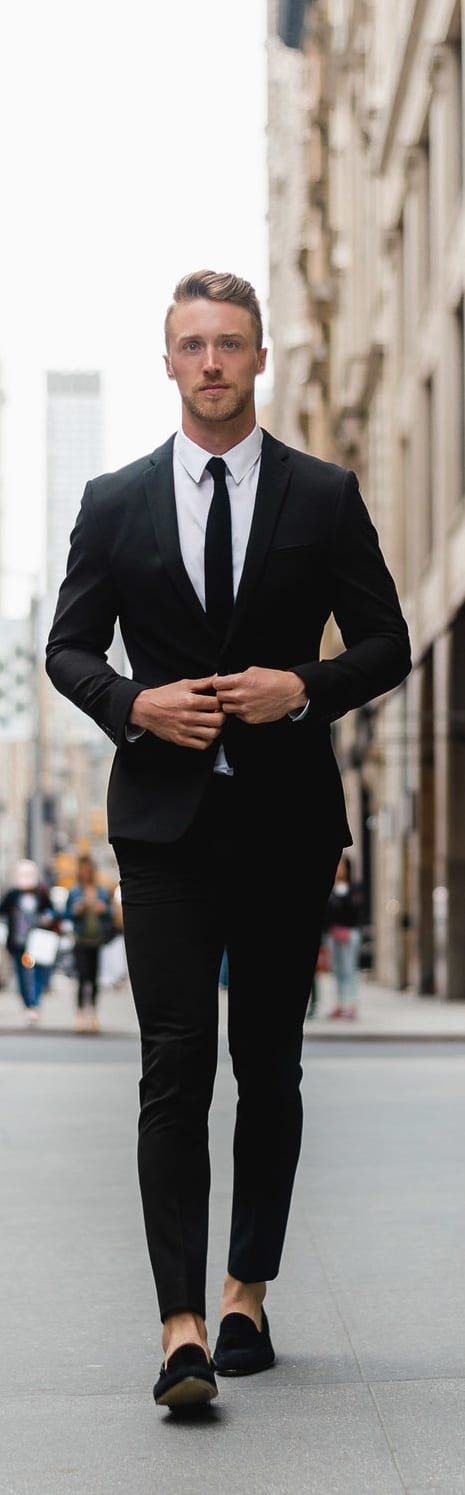 Black Tailored Suit For Men