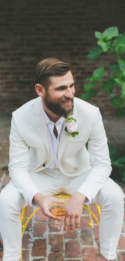 White Tailored Suit For Men