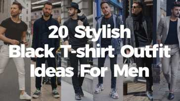 20 Ways Men Can Style Their Black T-shirt