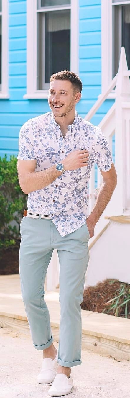 Amazing Printed Shirt Outfit Ideas For Men