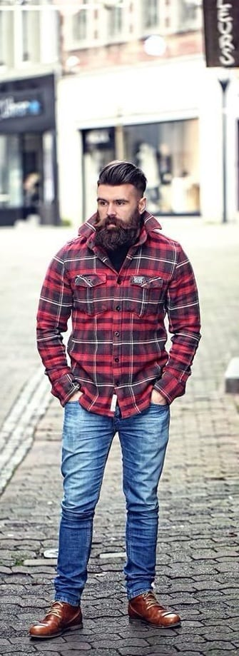 Dope Bearded Men Outfit Ideas