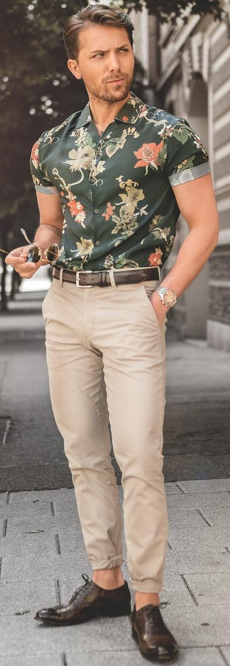 Formal Printed Shirt Outfit Ideas For Men