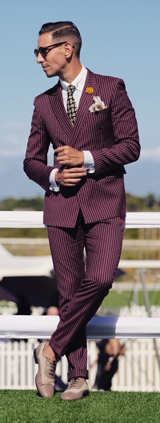 Formal Striped Outfit Ideas For Men