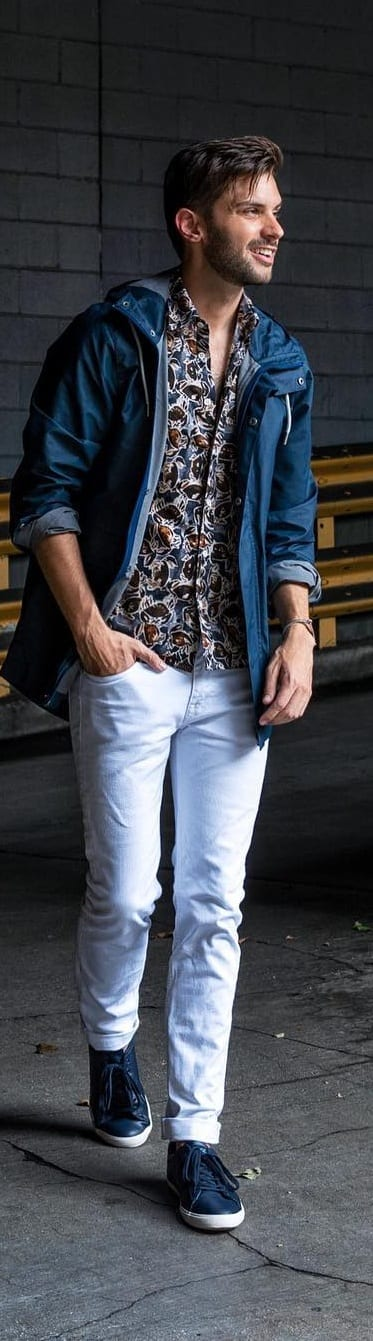 15 Trendy Printed Shirt Outfit Ideas For Men To Try Now