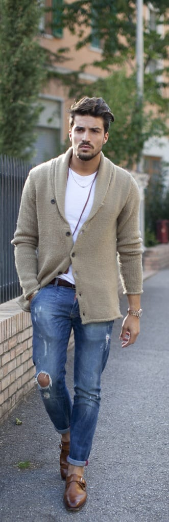 Street Style Cardigan Outfit Ideas For Men