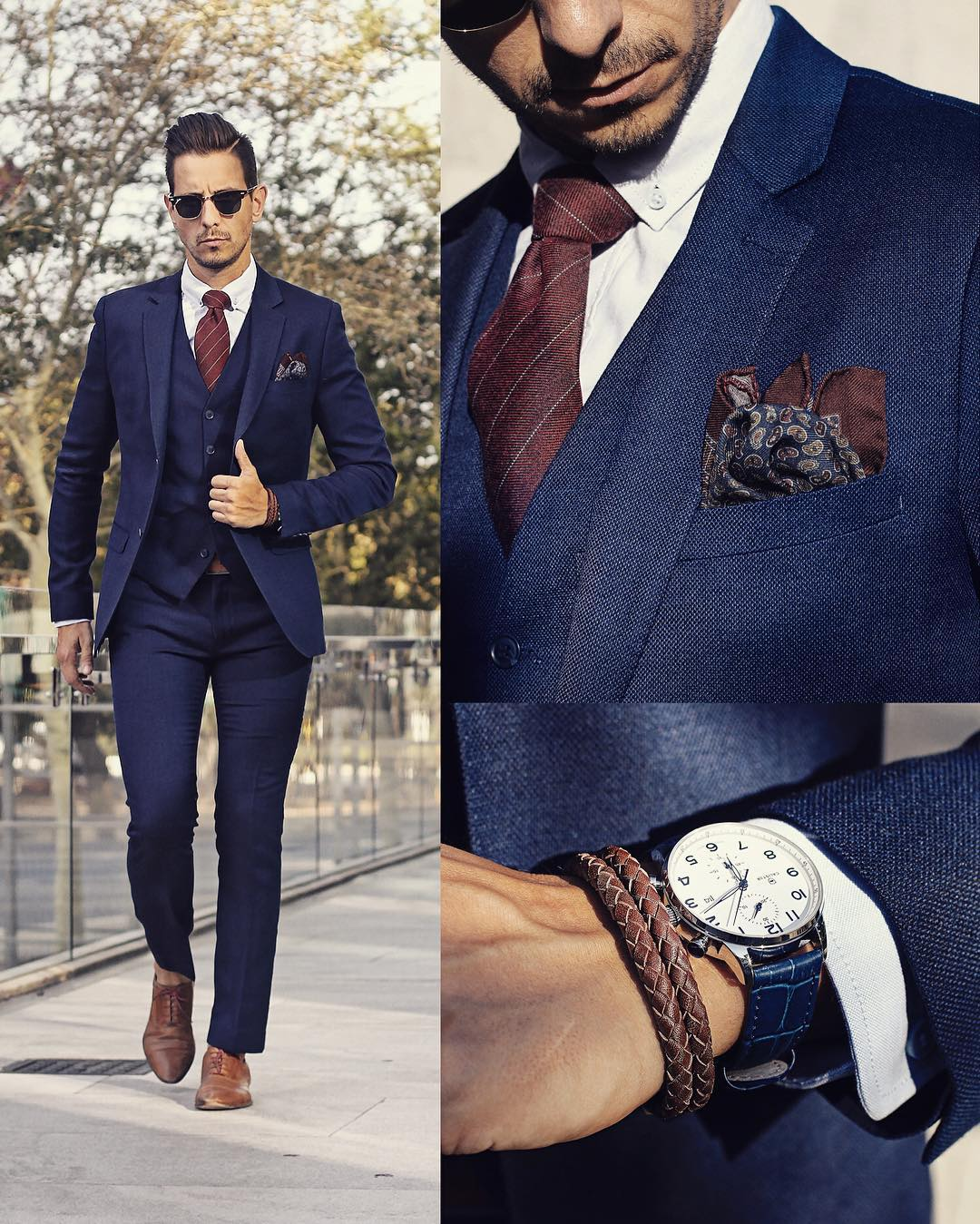 Suit And Accessory Combinations For Men