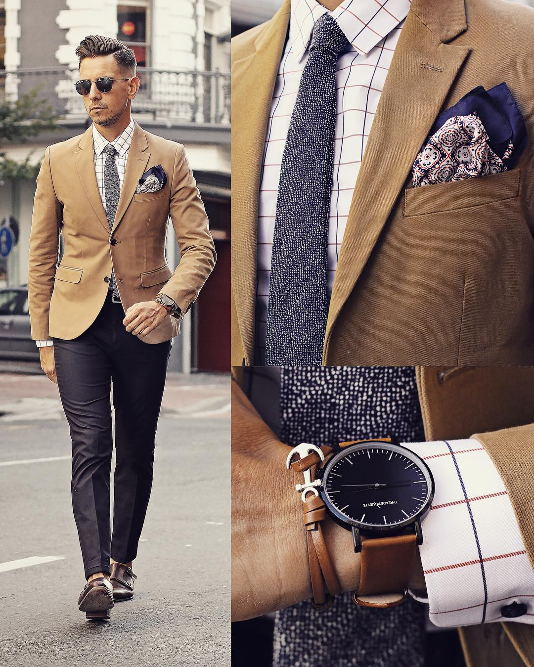 Suit , Pokect Square And Watch Combinations For Men