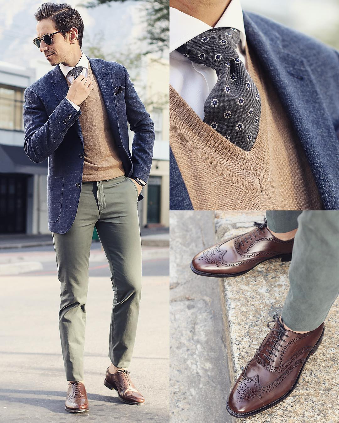 Suit, Tie And Shoes Combinations For Men