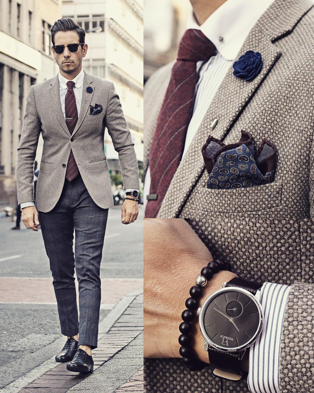 Suit Watch And Shoes Combinations For Men