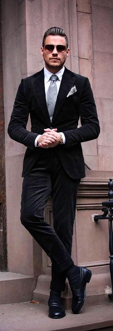 White Shirt And Black Suit Combinations For Men To Style