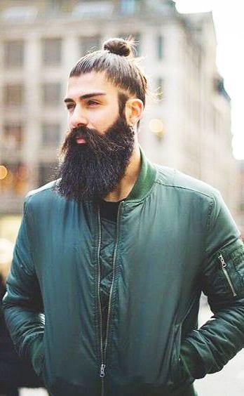 long beard and top knot