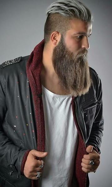 long beard and undercut