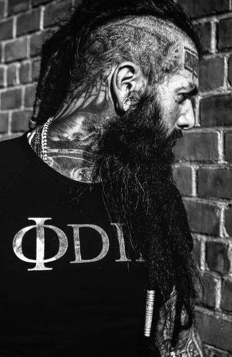 long beard with undercut