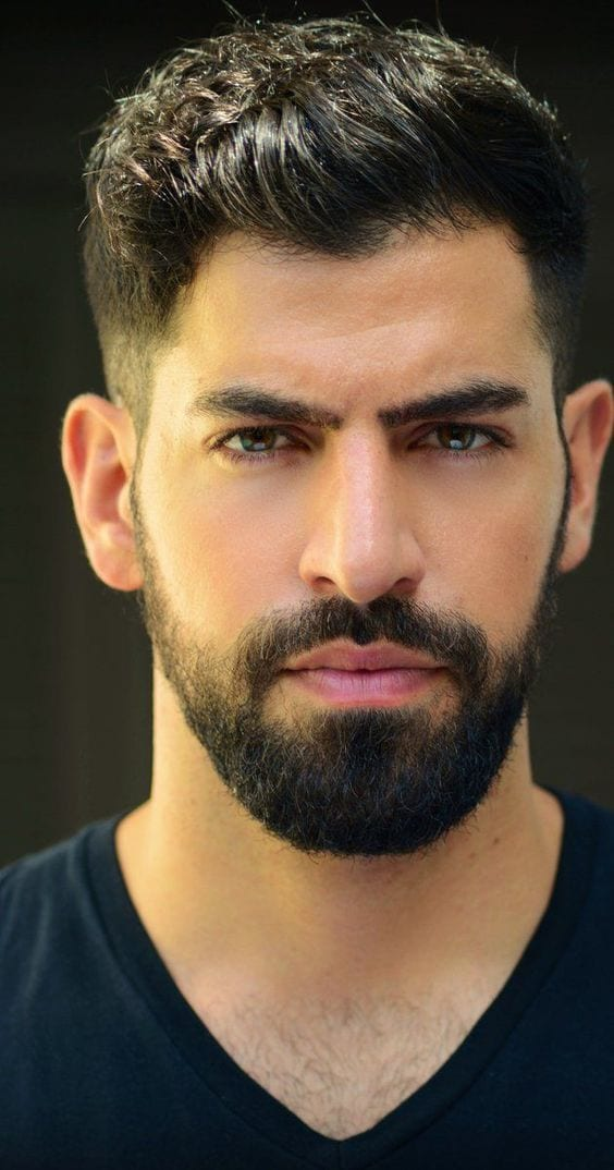 short beard with fade