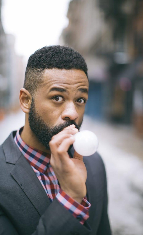 short beard with undercut