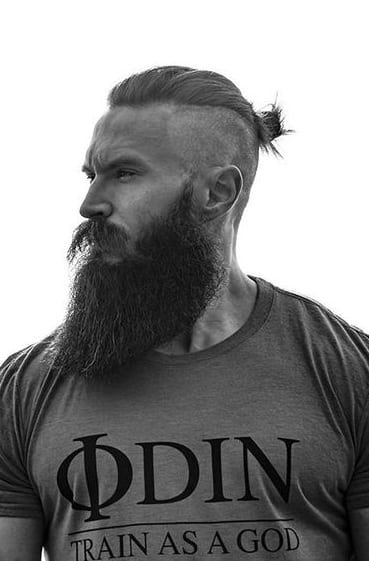 top knot with long beard