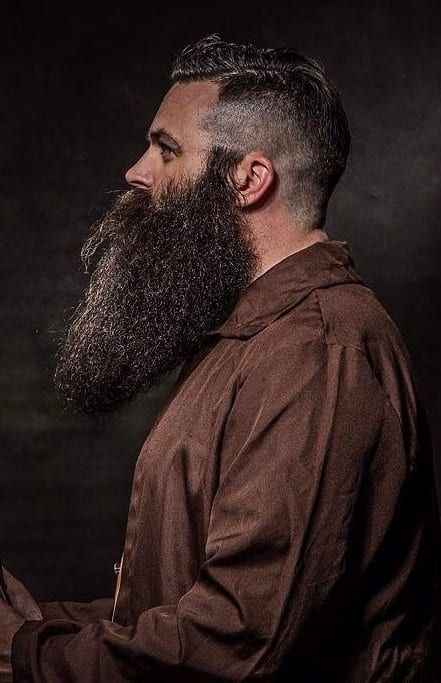 undercut with long beard
