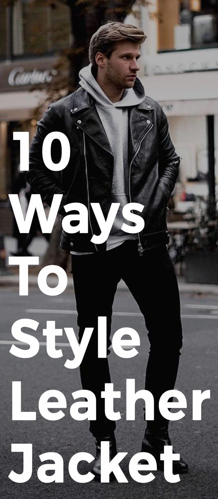 10 Ways To Style Leather Jacket!