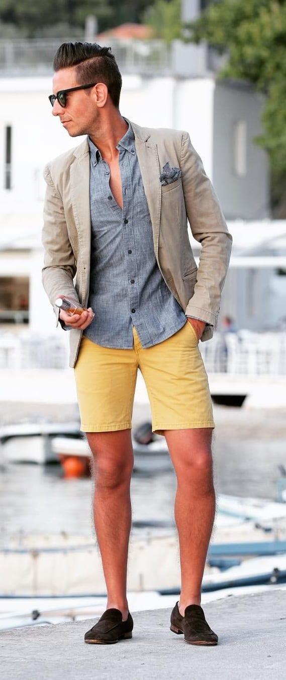 Best Short Suit Outfit Ideas For Men