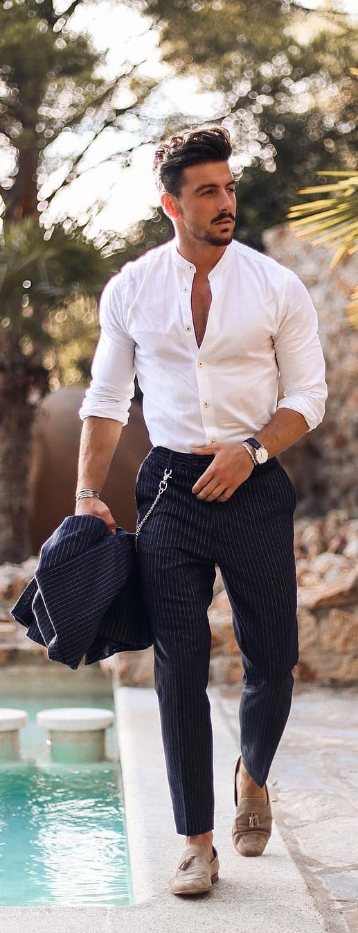 Stylish Tuck In Shirt Outfit Ideas For Men