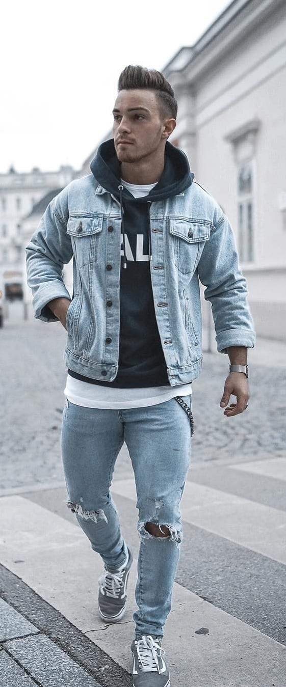 Denim On Denim Outfit Ideas For Men